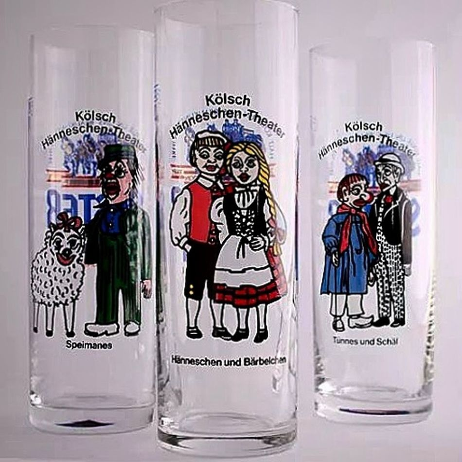 Still Life of three Beerglasses from Cologne the characters printed on the glasses are part of a very popular puppet show in cologne Canon Eos