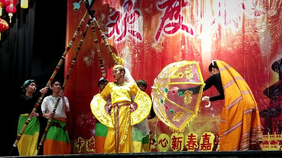 Cultures Indoors  Men Adults Only People Adult Day Dancing Culture Dance Bamboo Dance Philippines Performance Cny CNY2017 Chinese New Year