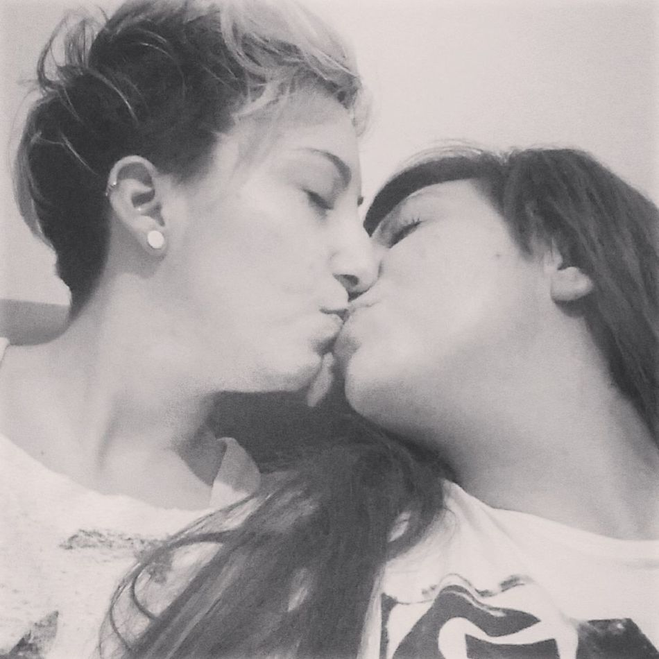 Lesbian Couple Love Is In The Air
