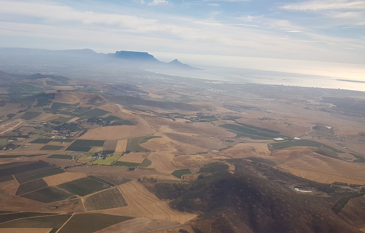 Aerial View Landscape Agriculture Nature Scenics Outdoors No People Day Cape Town South Africa 🇿🇦 Western Cape Cape Town, South Africa