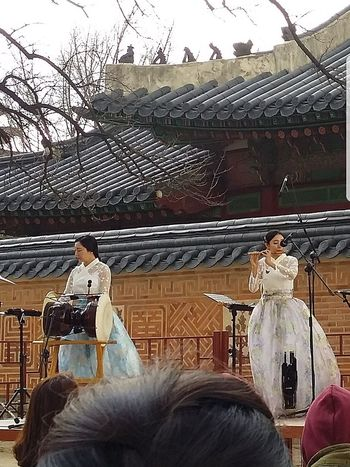 Cultural Performance Korean Traditional Music  Musical Performance Gyeongbokgung Palace, Seoul Official Palace Built In 1395 Kr_streetphotography Seoulstreetphotography Streetphotography Seoul South Korea Seoulspring2017