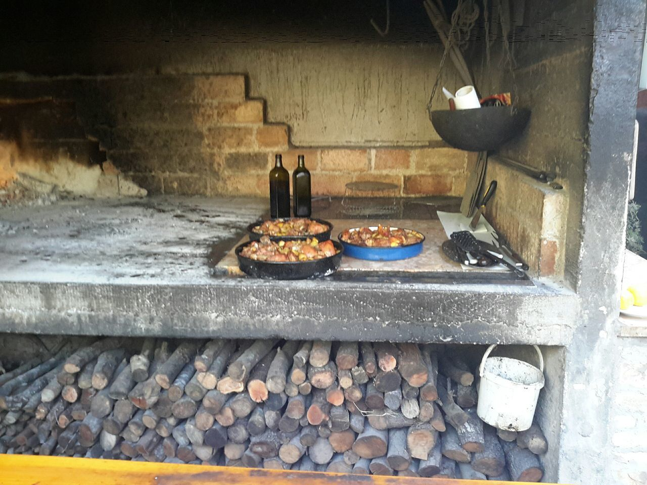Peka Wood Oven - Island of Vis Peka Peka Wood Oven Open Air Cooking Cooked Under A Lid Island Of Vis Croatia Hrvatska At The Beach Bbq Bbq Time Alfresco Eating Alfresco Dining Wood Oven Village Life Village Living Traditional Traditional Style CookingRustic Style Food