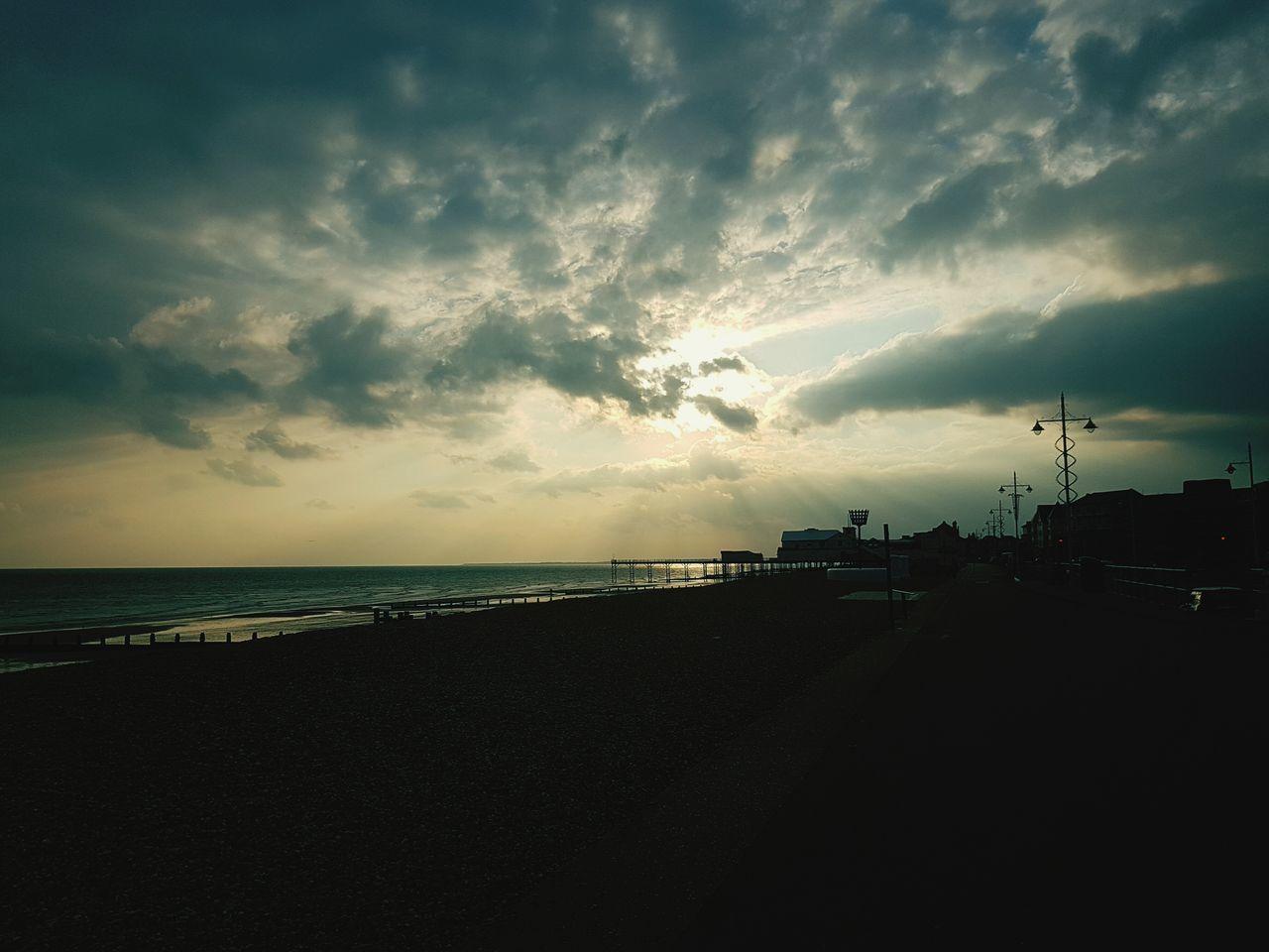 Sea Water Horizon Over Water Beach Tranquil Scene Tranquility Scenics Sky Calm Sunset Dusk Beauty In Nature Shore Cloud - Sky Idyllic Nature Cloud Coastline Ocean The Way Forward Bognor Pier