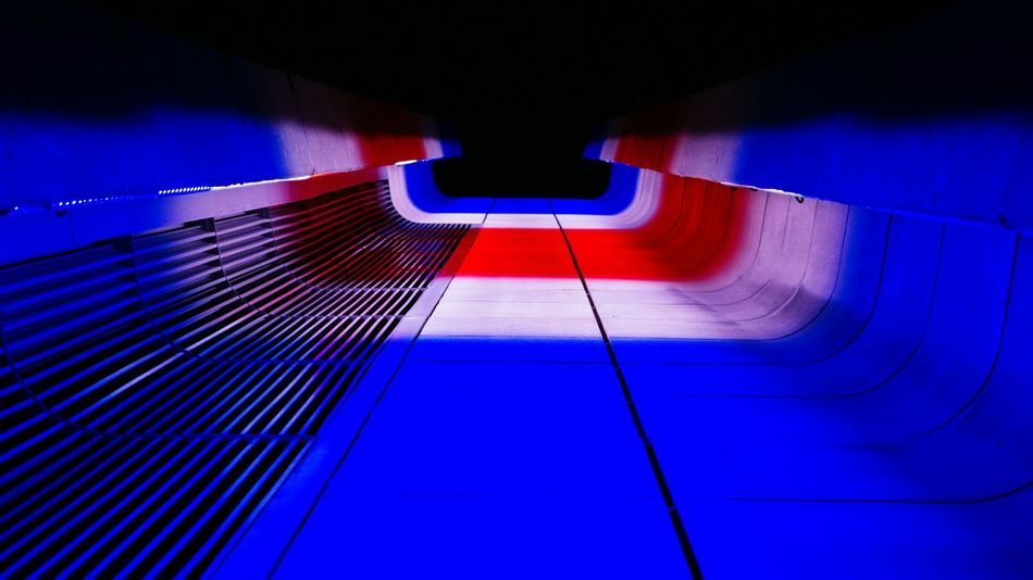 Colorful Perspective. Night Photography Looking Up Led Lights  Pattern Je Suis Paris United States Sony A6000 Project365