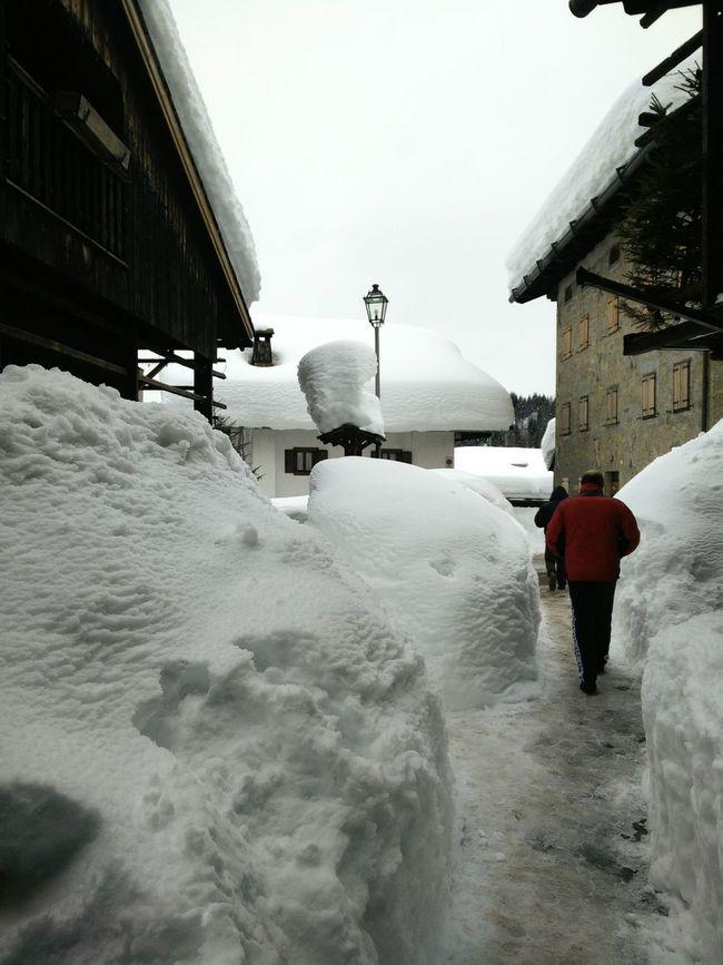 Little village under snow today Big Snow Sauris