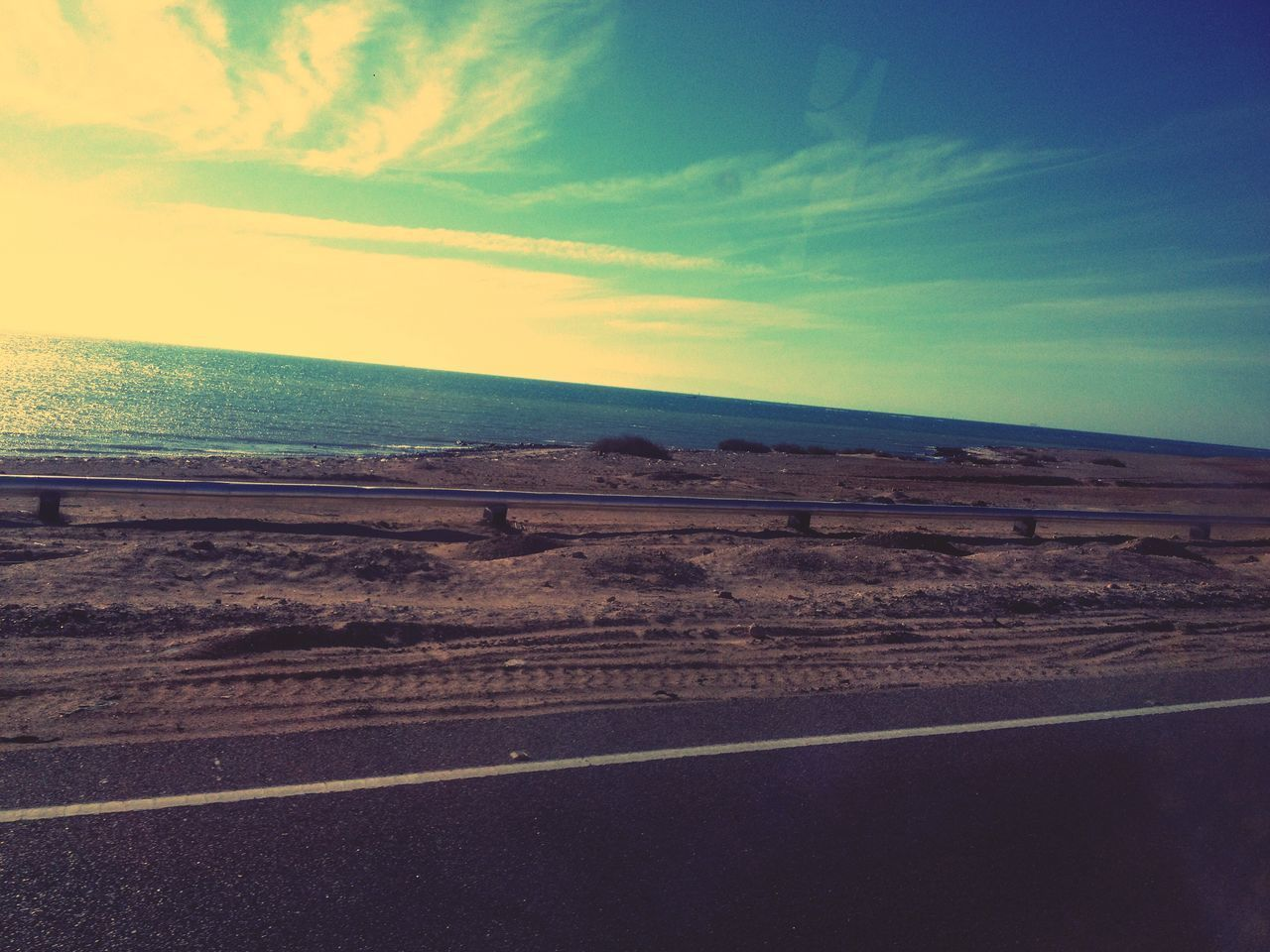 landscape, sky, tranquil scene, scenics, nature, road, tranquility, beauty in nature, cloud - sky, horizon over land, outdoors, transportation, no people, day, desert
