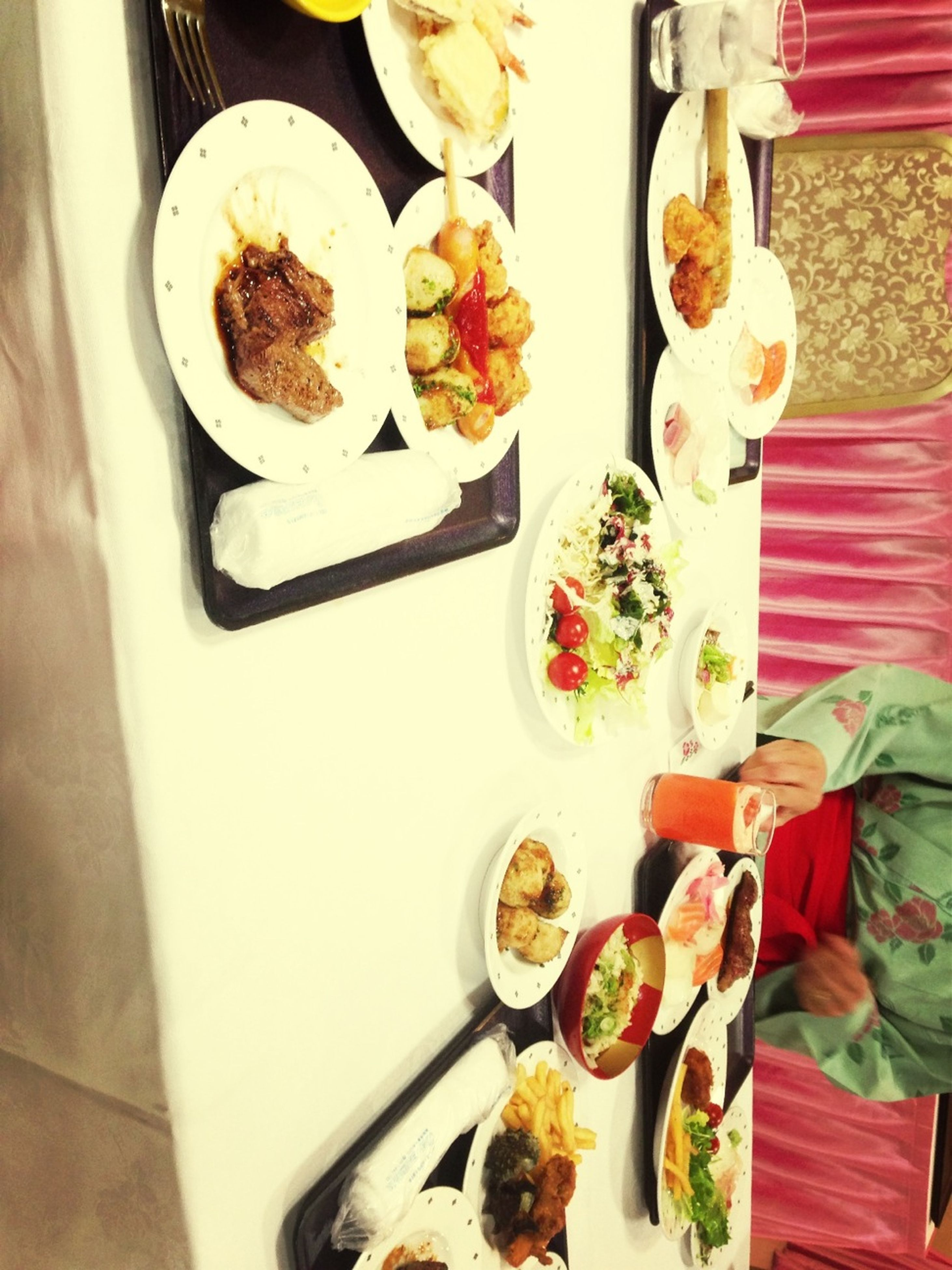 indoors, food and drink, food, freshness, still life, table, variation, high angle view, plate, choice, ready-to-eat, healthy eating, arrangement, indulgence, meal, sweet food, bowl, no people, tray, large group of objects