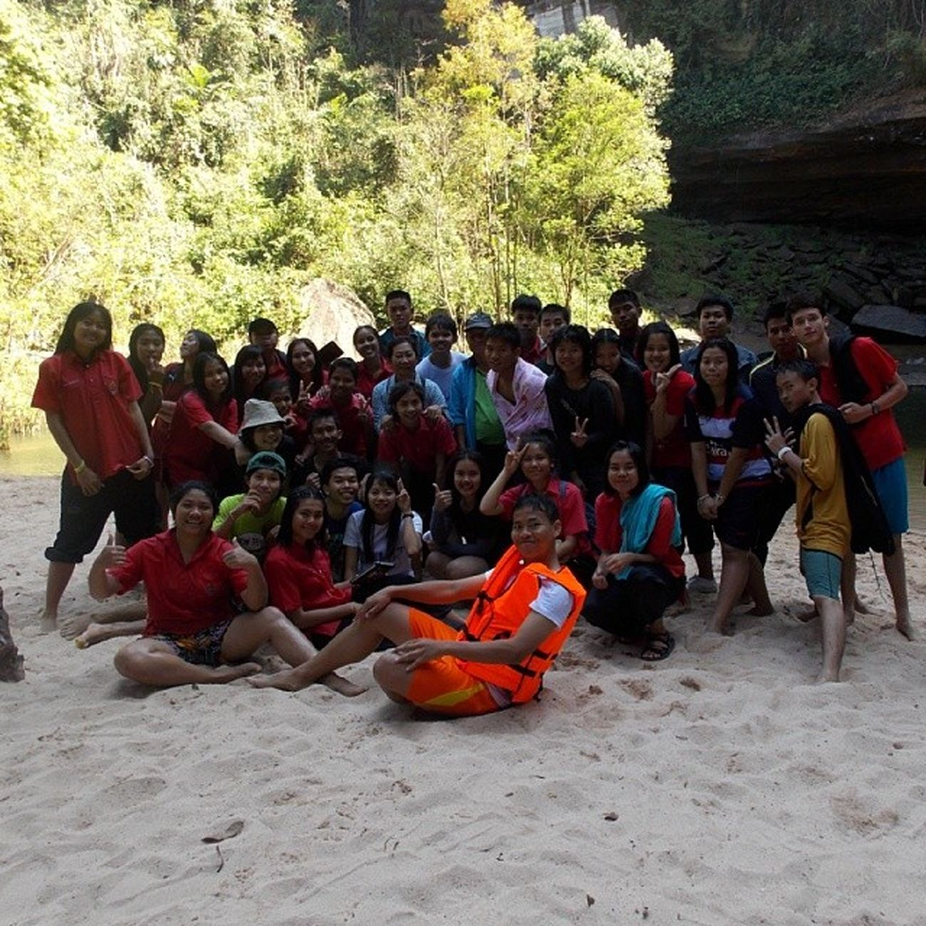 School Trip!! Waterfall Ubon Schooltrip Fun Classmates Thailand Friends LastYear Love Cute
