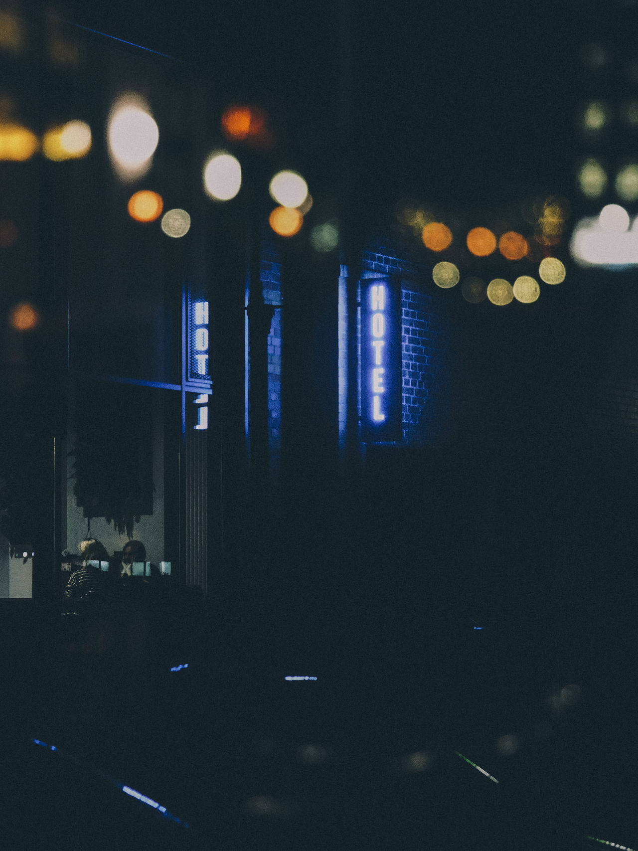 Architecture bokeh building exterior City close-up defocused hotel illuminated neon neon life neon lights neon sign night no people The Week on EyeEm