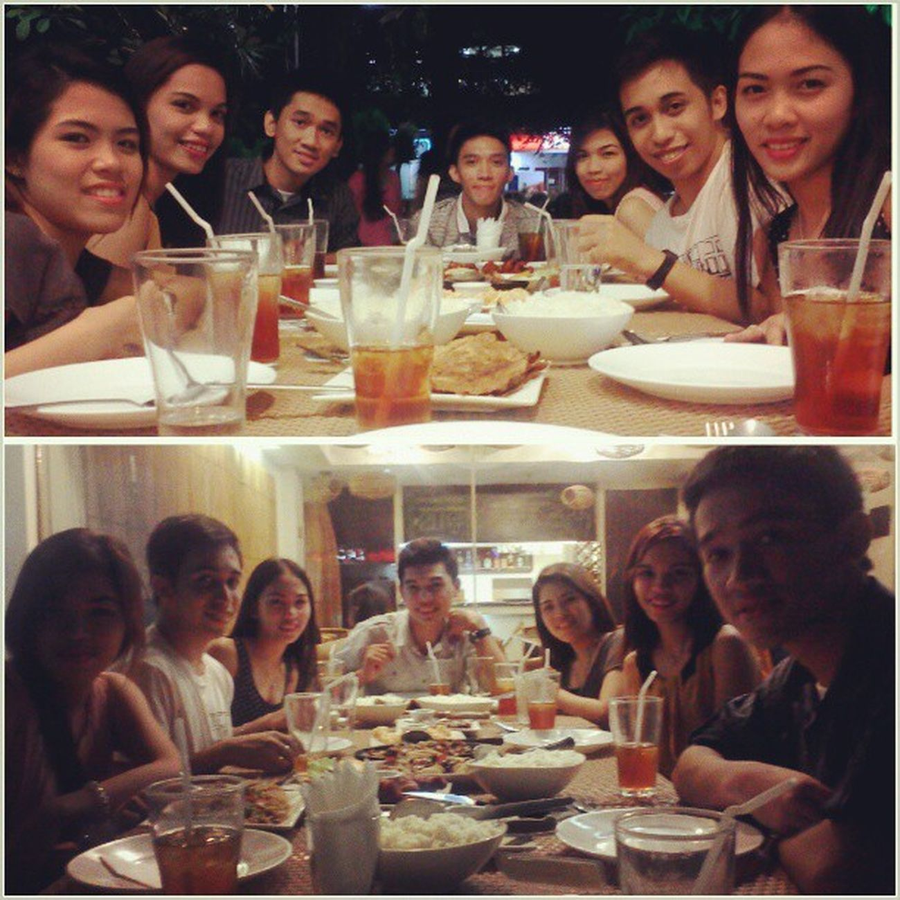 Dinner with the gang bam..