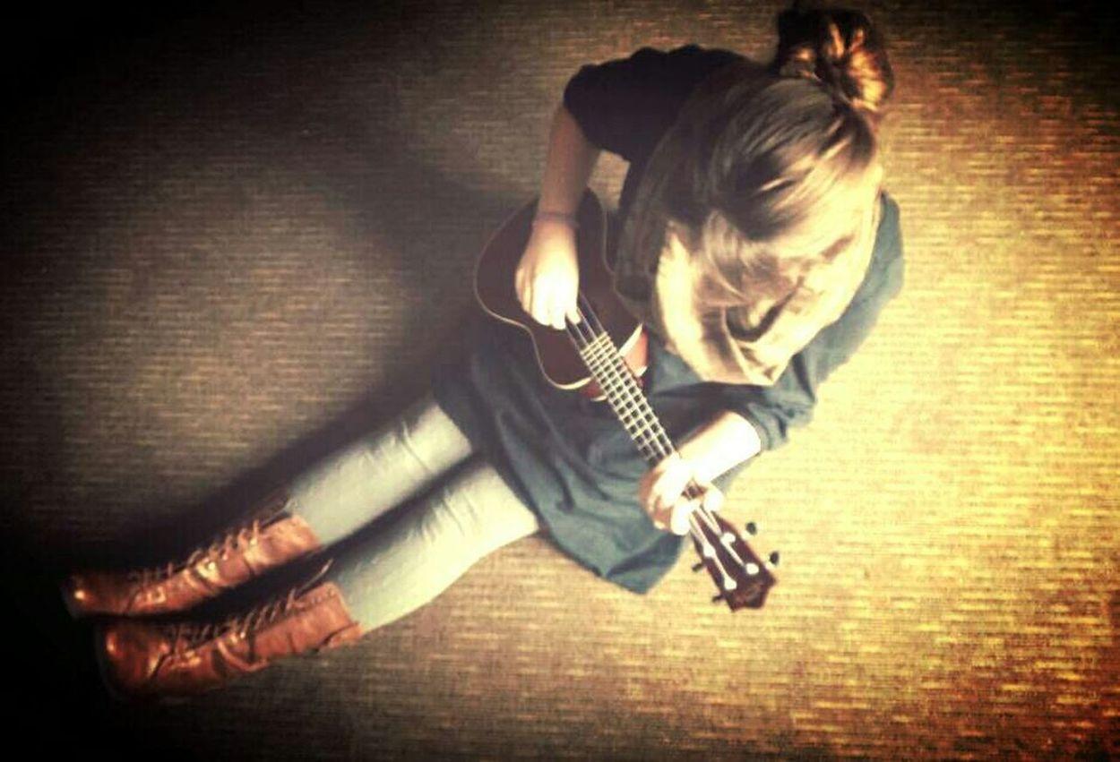 Music Guitar Love Playing My Ukulele