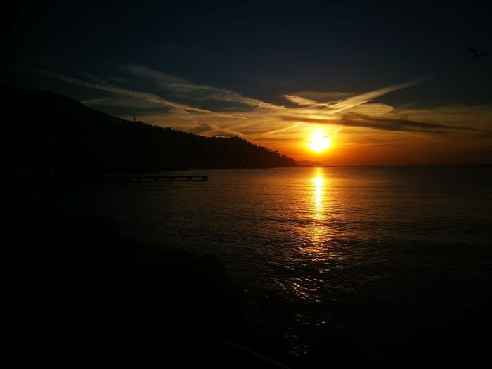 Just an amazing gift!Sunset Nature Beauty In Nature Sunlight Outdoors Rapallo No Filter Landscape