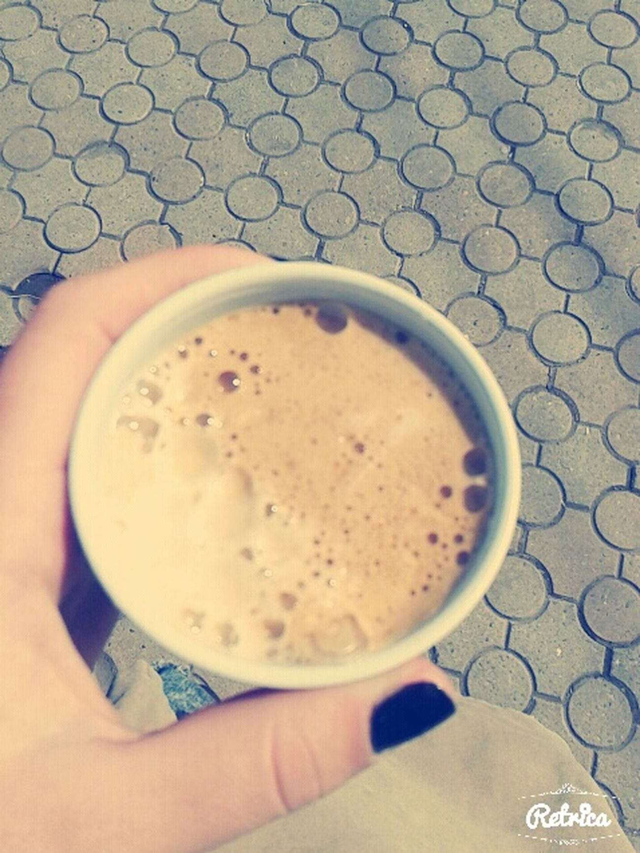 Getoutside Drinking Coffee ☕ Espresso❤ Thats Me ♥ Myhand Hotcoffee Feeling Good √