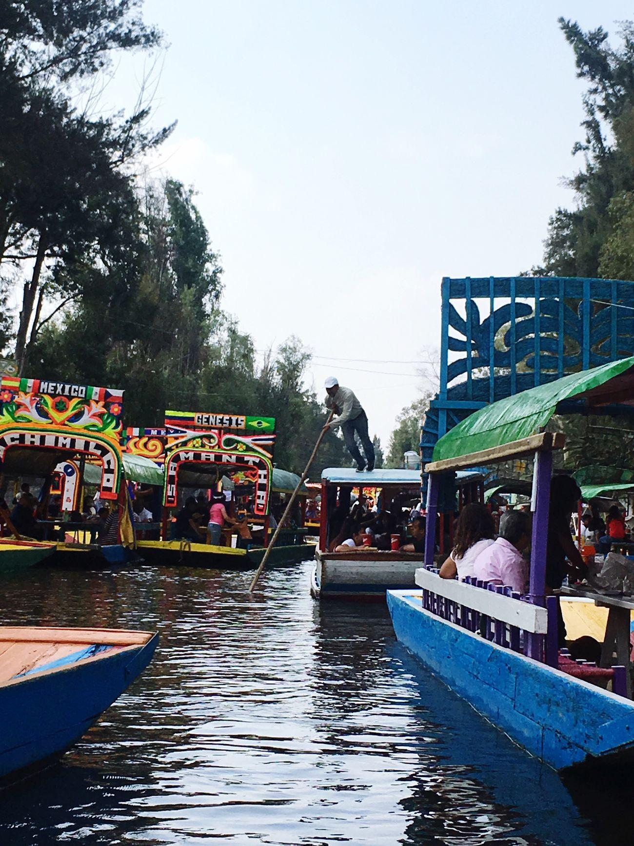 Mode Of Transport Real People Water Large Group Of People Lifestyles Boat Men Disfrutando De La Vida Mexicomagico Trip