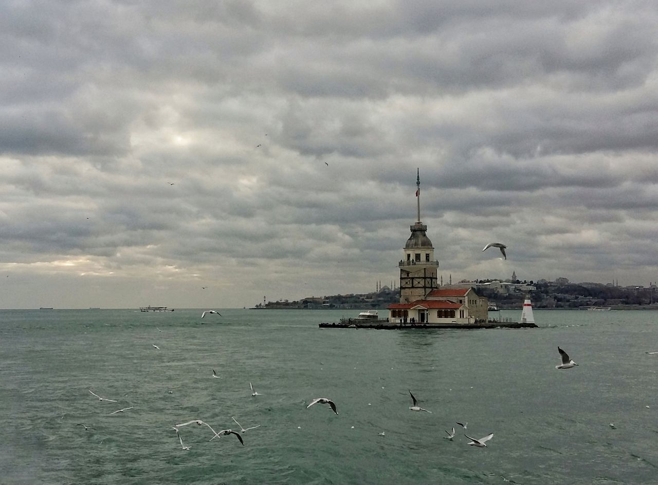Maiden's Tower Sea And Sky Maiden Tower Cloud - Sky Water Nature Seagulls Legends Istanbul EyeEm Best Shots Eye4photography  EyeEm Gallery EyeEm Best Edits