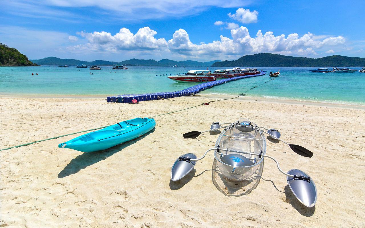 Beach Boat Coastline Coral Island,Thailand Enjoyment Fun Kayak Kho Hey Leisure Activity Outdoors Phuket Sand Sea Shore Sky Thailand Vacations