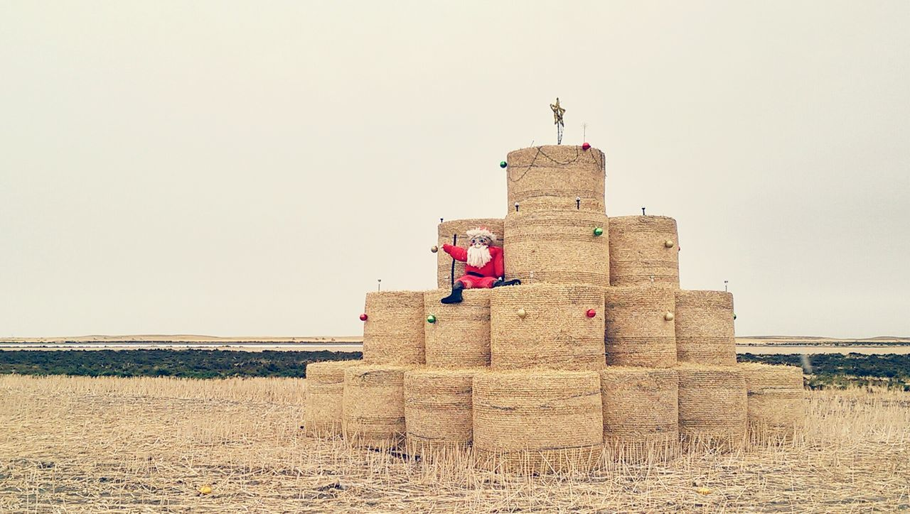 Beautiful stock photos of santa claus, Agriculture, Bale, Christmas, Christmas Decoration