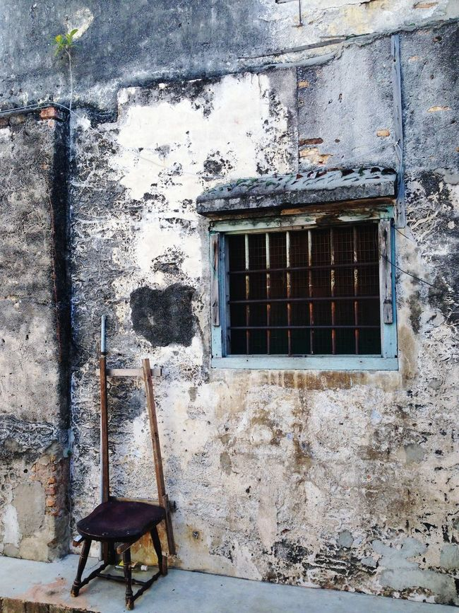 Backlane Window Day No People Built Structure Metal Damaged Bad Condition Outdoors Architecture Close-up