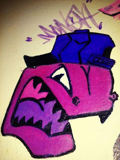Monsta! Graff Cartoon Chicago E&e Lile Raawr Hellwood