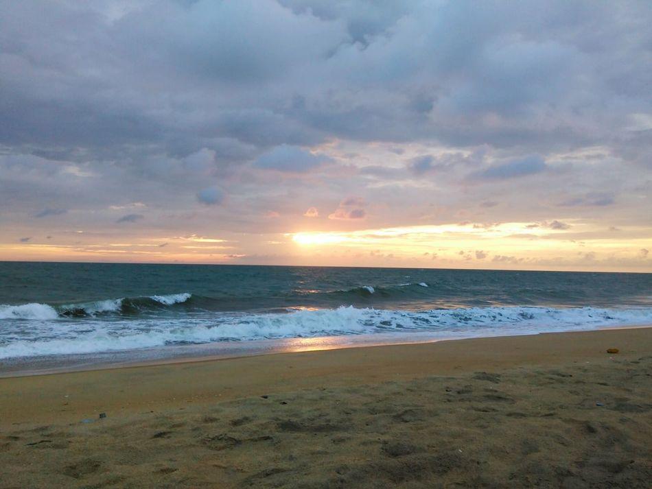 Sea And Sky Beautiful Sundown Beach