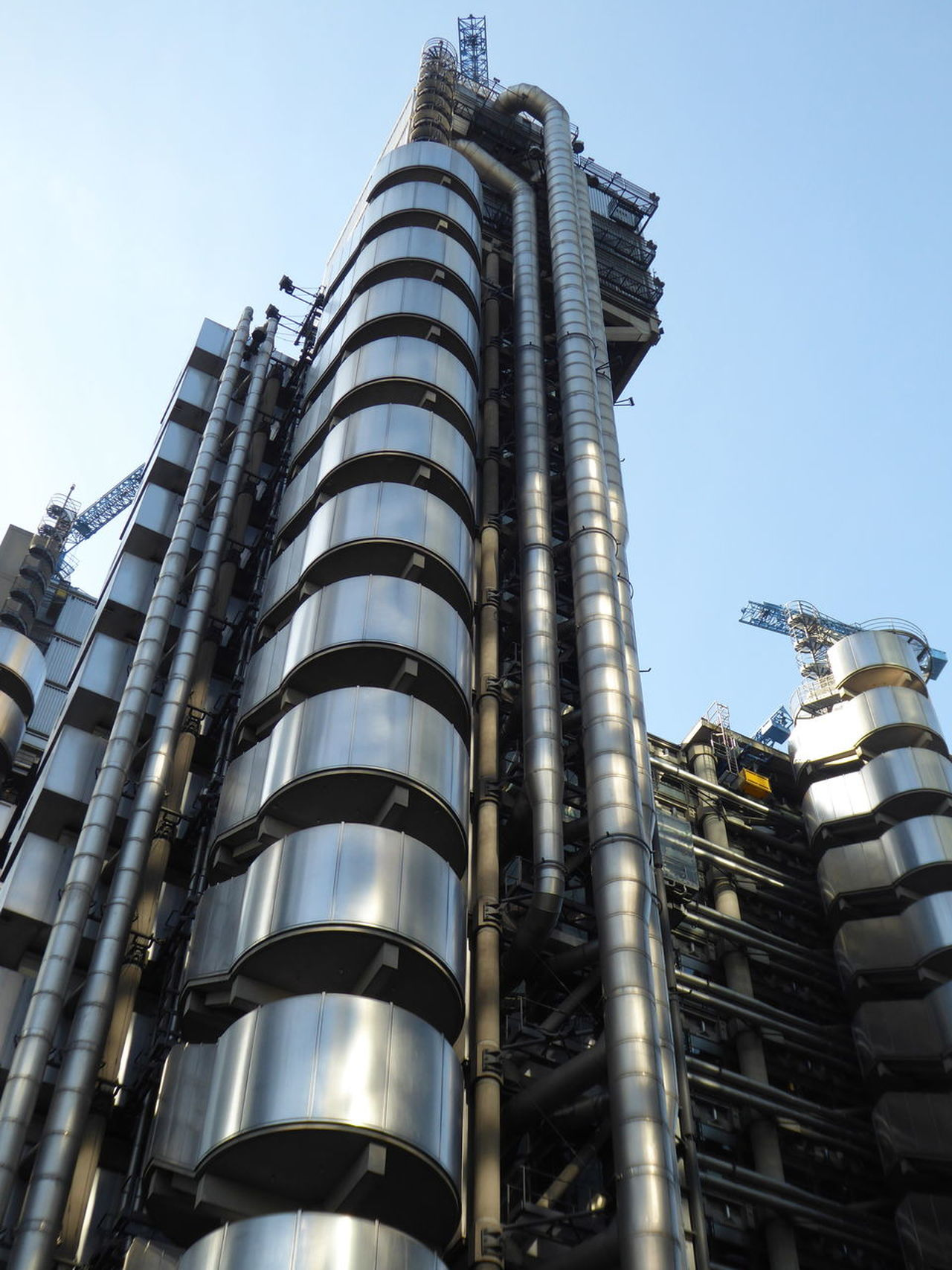 Architecture Brexit Building Exterior Built Structure City Finances Lloyds Building Lloyds Of London London Financial Centre Low Angle View Metal Modern No People Sky Skyscraper Tall - High Tower Travel Destinations World Finances