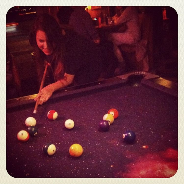 Lauren #scratched on the #cosmic #8ball #yall. Scratched Newyork Newyorkcity Cosmic Rustyknot Yall NYC Bar Pool NY Westside 8ball