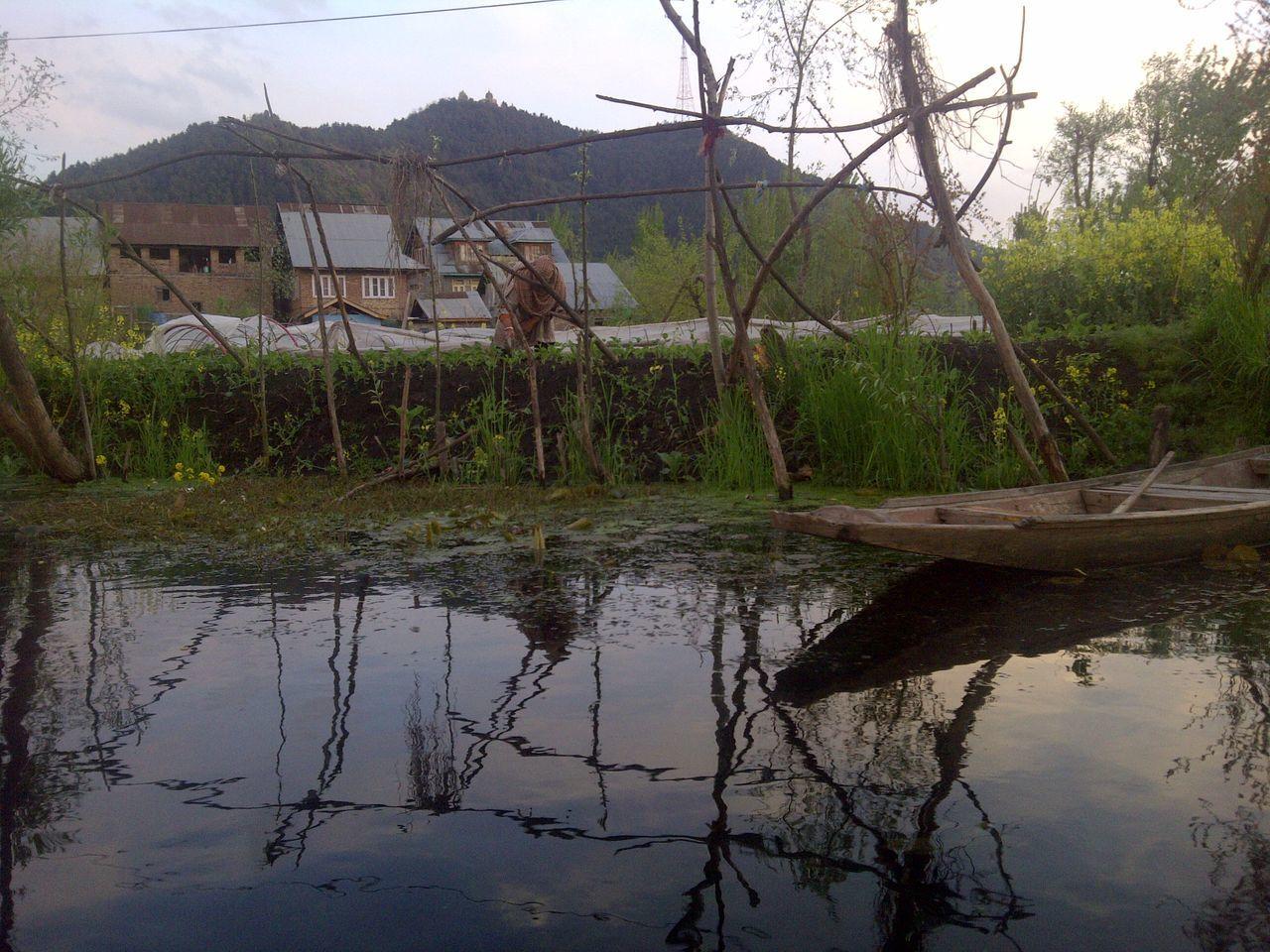 Beauty In Nature Day Idyllic Kashmir Kashmirdiaries Nature No People Outdoors Reflection Rippled Scenics Srinagar  Srinagar Kashmir Tranquil Scene Tranquility Water