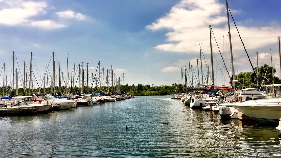 A fabulous day to take any one of these Boats out onto Lake Ontario from Whitby Harbour — Sailboat Motorboat Harbour Fresh Air Relaxing IPhoneography Enjoying The Sun