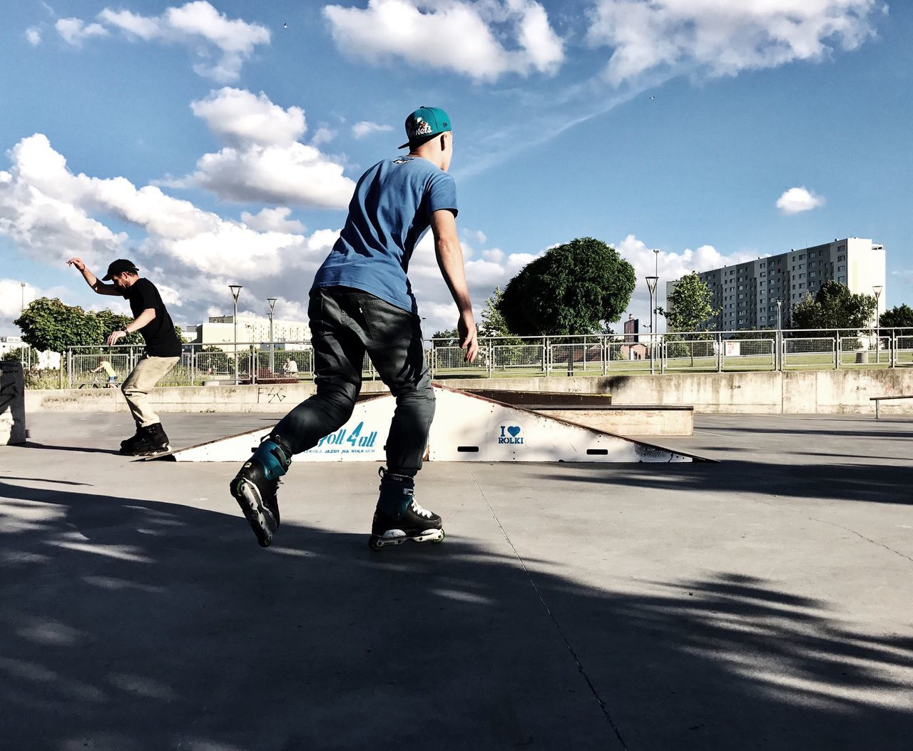 Leisure Activity Skill  Real People Skateboard Sport Full Length Skateboard Park Motion Lifestyles Sunlight Sports Ramp Sky Day Men Jumping Mid-air Vitality Outdoors Stunt Playing Shotoniphone7plus EyeEm Selects