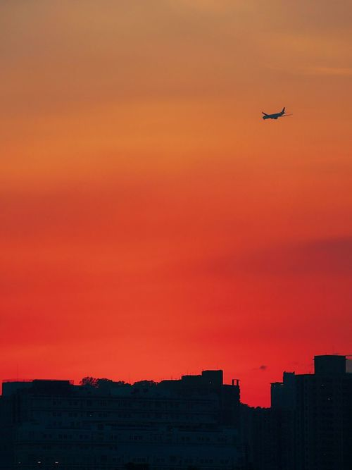 Color Palette Colour Of Life Sunshades Golden Moment Sunset Sky Aeroplane In The Sky Hk Discovery Channel Hk Style