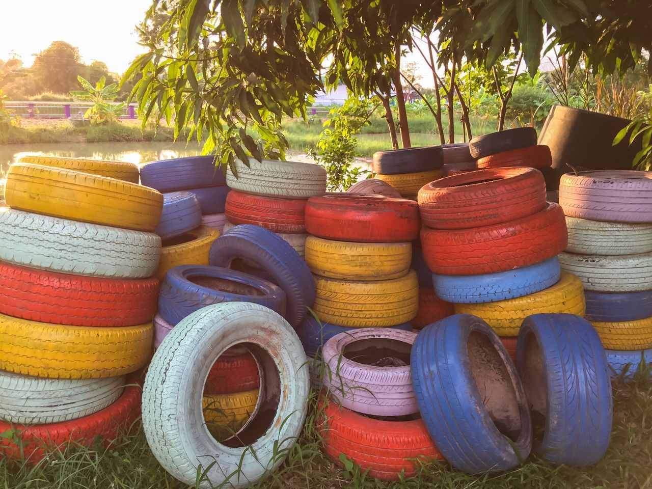Colourful tyre for children Large Group Of Objects Variation Multi Colored Colorful Colourful Tyre Childhood
