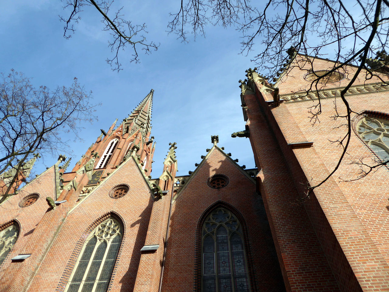 Favorite Churches In My Town Christuskirche Hannover Architecture Built Structure Blue Sky Bare Tree