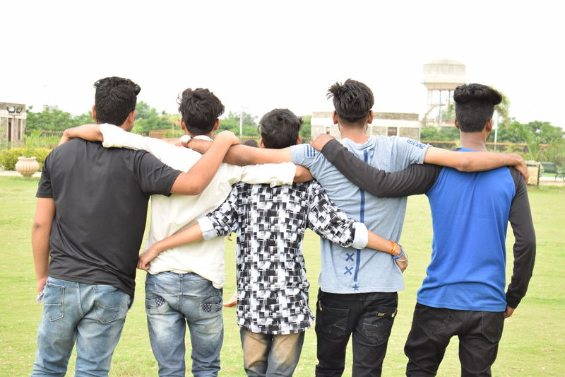 Brozone Fruends Bff Unity Togetherness Connection Friendship Medium Group Of People Teamwork Sharing  Bonding Adult Rear View People Day Young Adult Outdoors Community Happiness Adults Only Volunteer