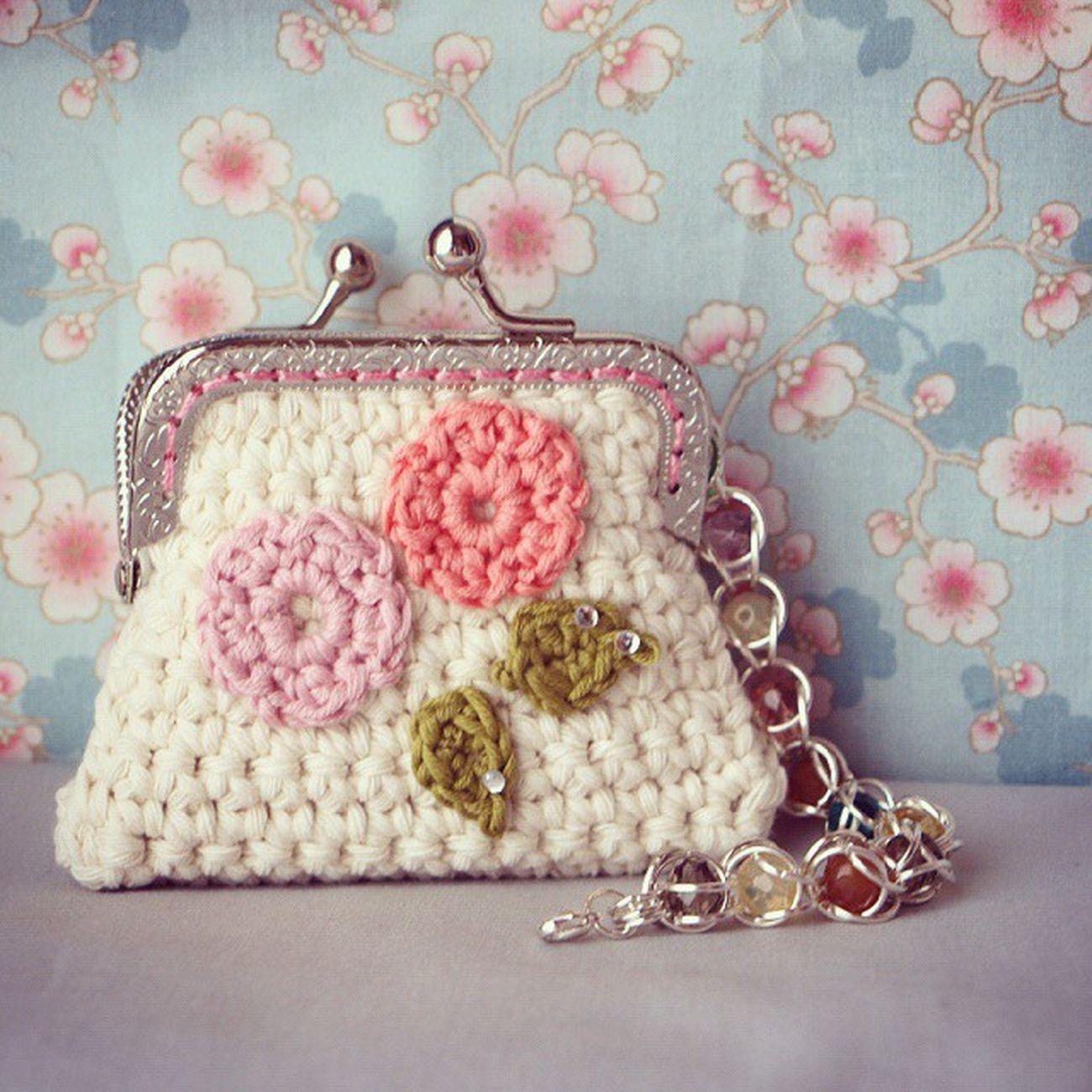 Monedero Crochet Coinpurse Vintage Shabbychic Handmade Sweet Bracelet Crystal Love