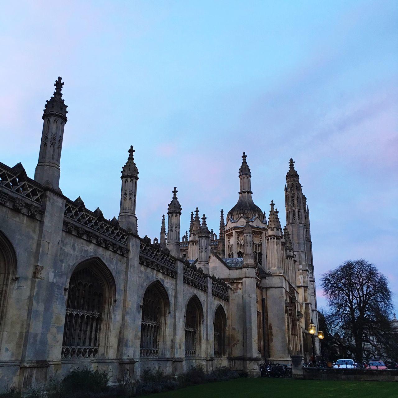 University King's College Cambridge Sunset