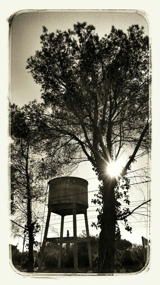 Water tank of the station abandoned