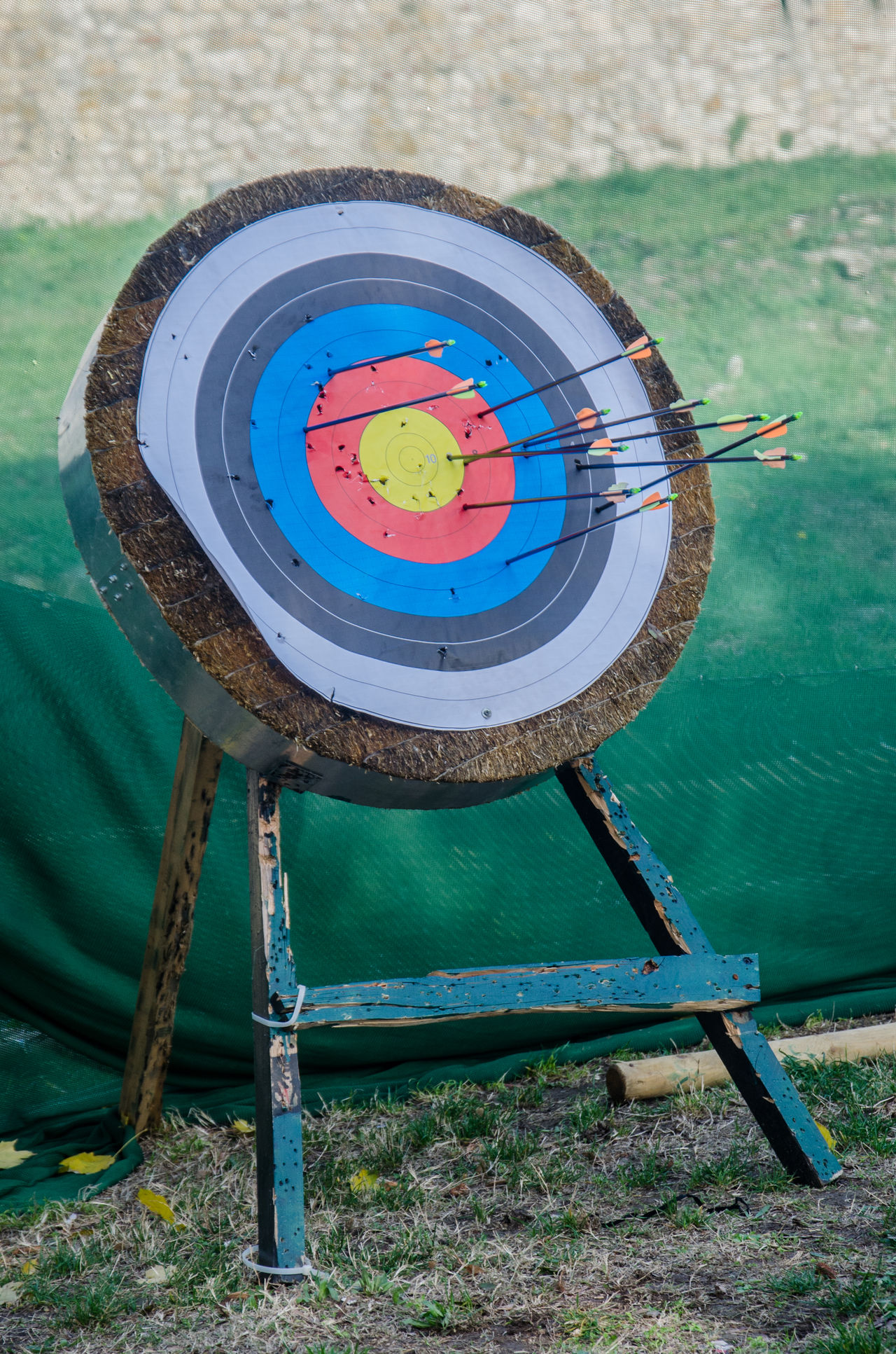 Aim Archery Arrow Blue Bow And Arrow Bullseye Circle Circle Dart Day Multi Colored No People Red Shooting Sport Sports Sports Target Sports Photography Arrows Bow Dartboard Darts Harpoon Missile Individual Sport