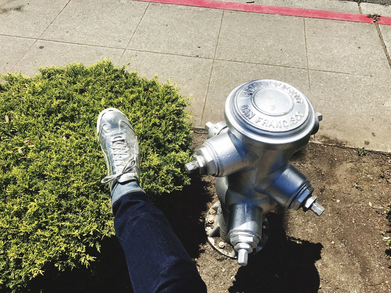 Silver! Human Leg Low Section High Angle View One Person Human Body Part Real People Personal Perspective Day Shoe Men Outdoors Lifestyles Human Hand Nature People