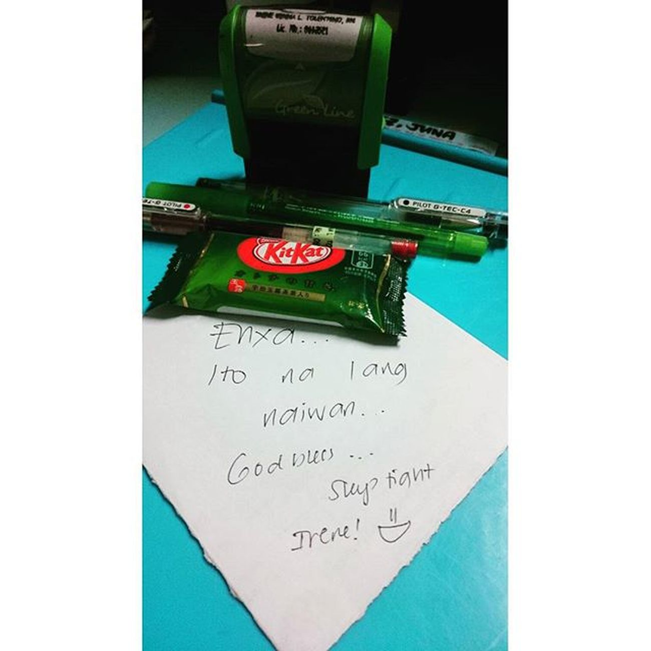 From a thoughtful kittymeow. Gracias @tintin_babes 👍👌😸 Kitkatgreentea Kittykristina