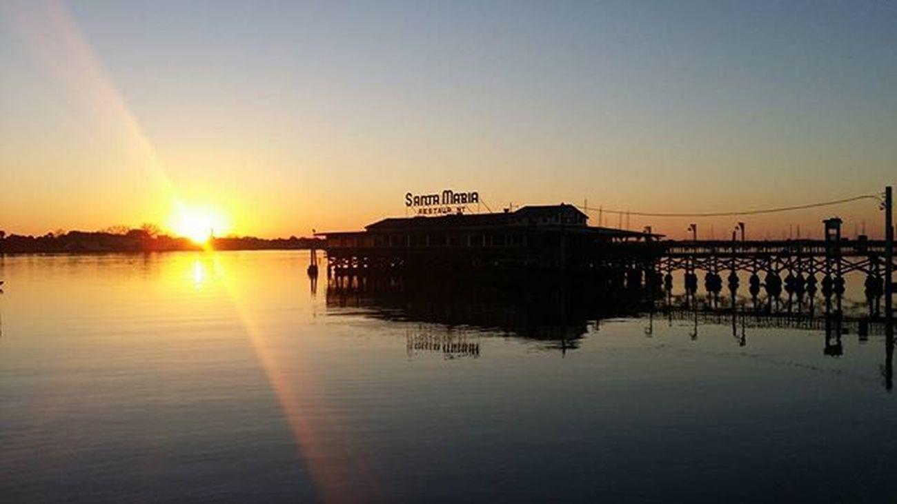 Great spot for sunrise photos. Staugustine Harbourside Harbour Florida Bridgeoflions Saltlife Saltlife_sunrise Fireinthesky
