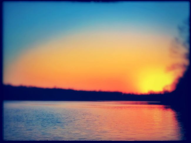Sunset Over the Water