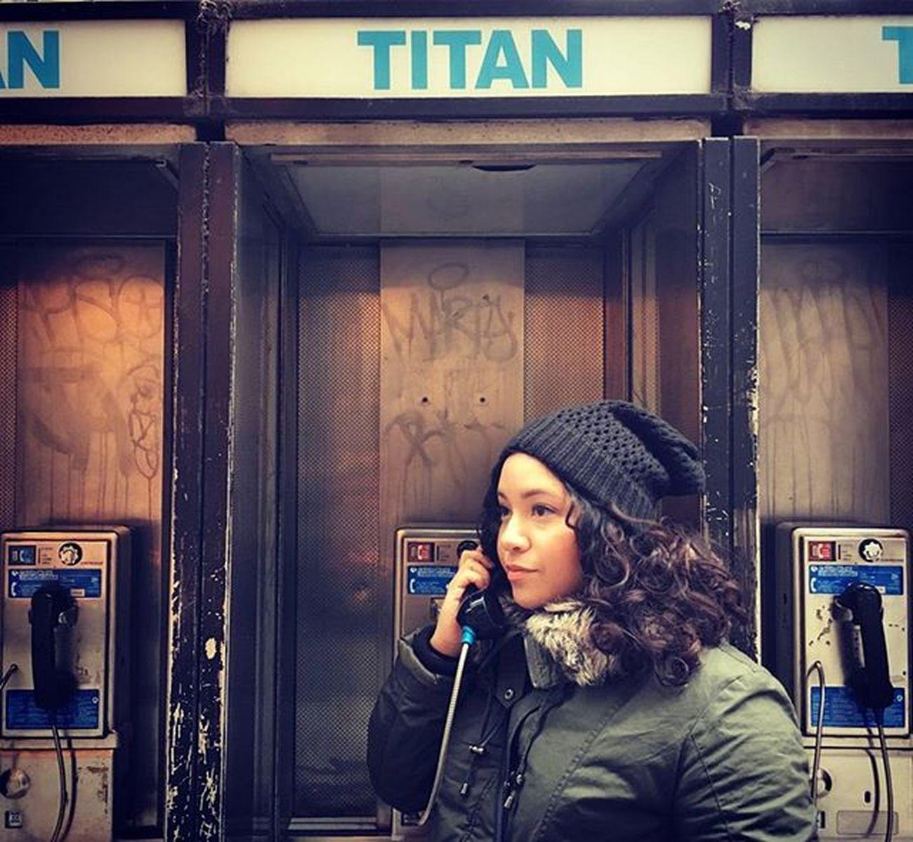 Phoning home. 📷: @kevinwayne.photography Igny Ignyc Newyorkcity NYC Illgrammers Shoot2kill Justgoshoot Instagood Peoplescreative Vscocam Vscogram Gameoftones Curlygirl Curlyhairkillas