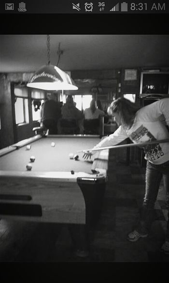My Hobby Shooting Pool B&W Portrait Good Times Drinking Beer Hanging Out