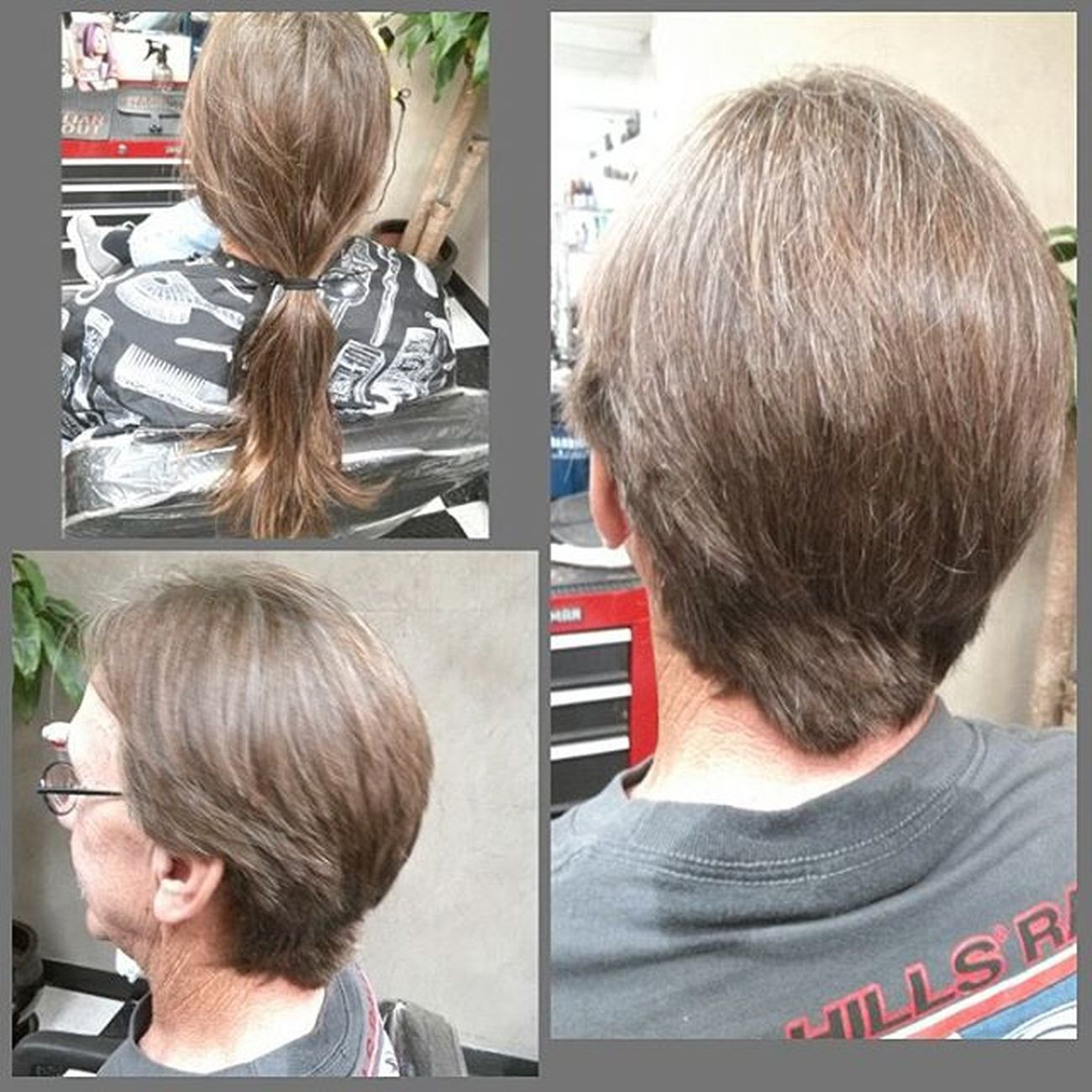 Feather cut straight out a 1974!....all joking aside this wonderful gent donated to our Locks of Love collection. Beautybytammy Huntingtonbeach Mainstreethaircompany