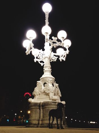 Light at night.