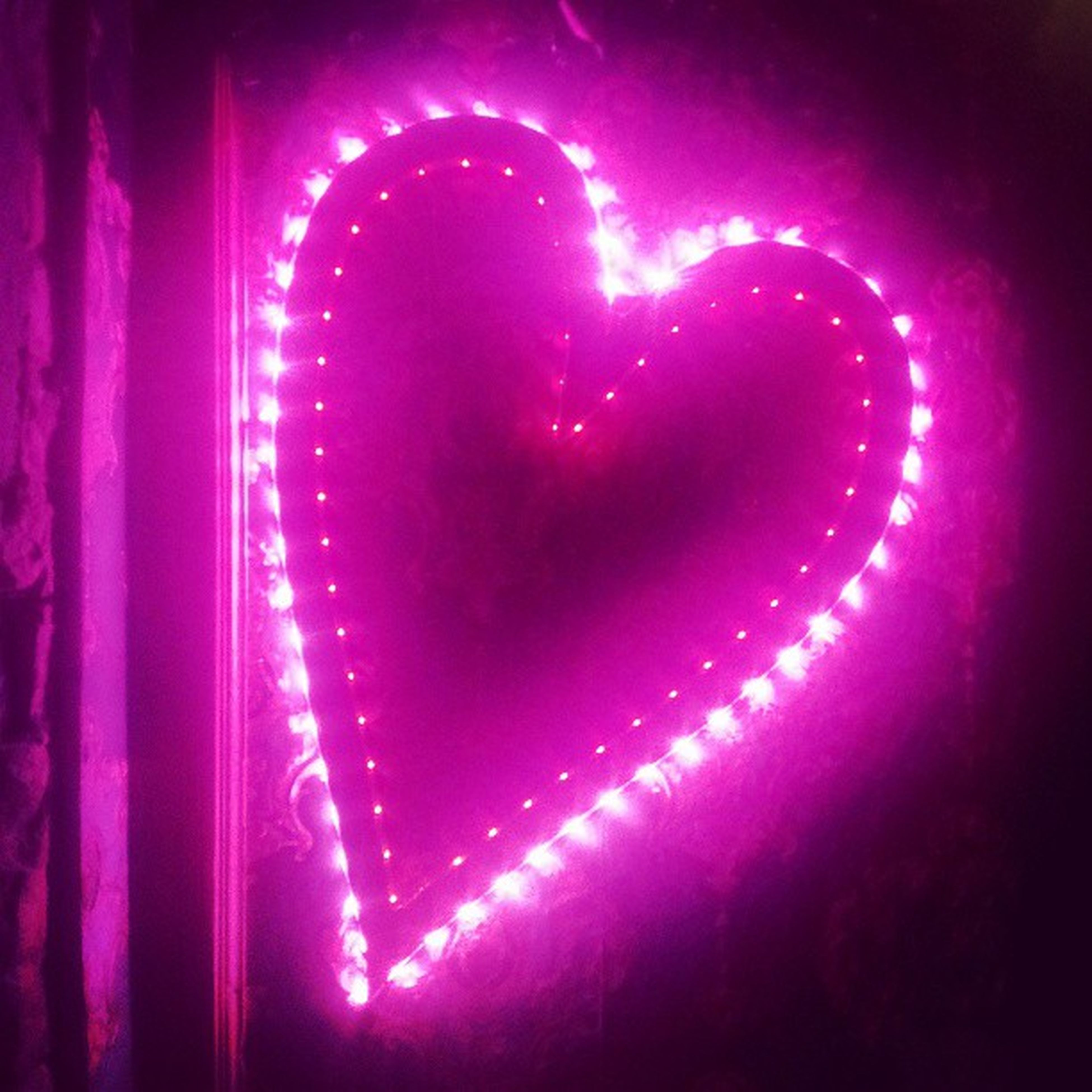 red, indoors, night, illuminated, close-up, pink color, abstract, no people, purple, light - natural phenomenon, glowing, full frame, dark, auto post production filter, ideas, backgrounds, pattern, vibrant color, lighting equipment, heart shape