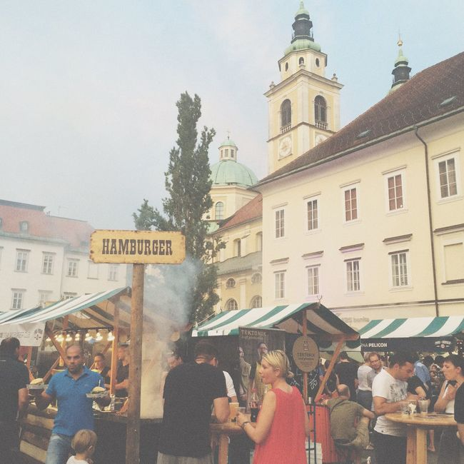Beer and Burger Fest! It's a good time to feed myself. Pivo Burger Festival Slovenia Ljubljana