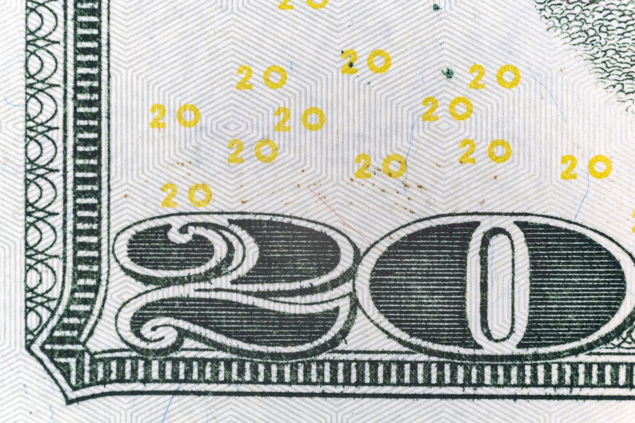 Macro Twenty Dollar Bill Banking Bill Business Cash Close-up Corner Counterfeit Crime Currency Cyber Day Dollar Fraud Indoors  Industry Investing Macro Money No People Pattern Stock Market Twenty