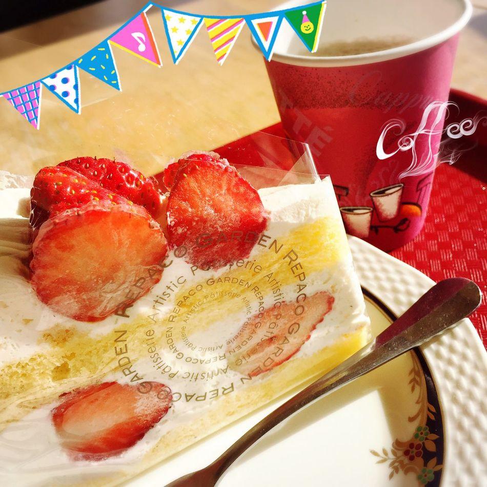 Cake Cake♥ Strawberry Strawberries Strawberry Cake ショートケーキ いちご 苺 Coffee コーヒー ケーキ