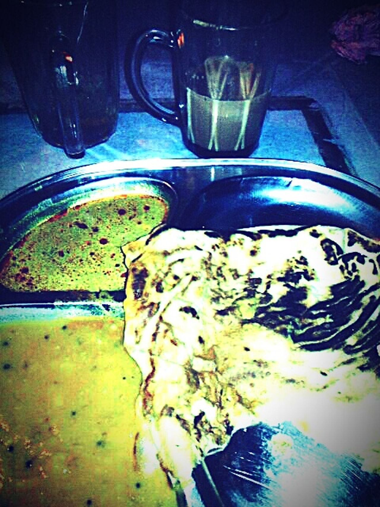 What's For Dinner? Malaysian Food Hungry Food Stall Foodporn Popular Food At Melaka Teh Tarik (Malaysian Pull Tea) Roti Canai Melaka Malaysia The World Heritage